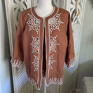 Bob Mackie embroidered jacket and tank MED